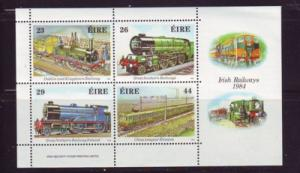 Ireland Sc 584a 1984 Railways stamp sheet mint NH