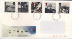GB - 1994 - SG1795/9 on CROYDON FDC Age of Steam Railways Issue