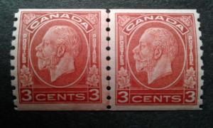 Canada #207 MNH line pair ~1812.2515