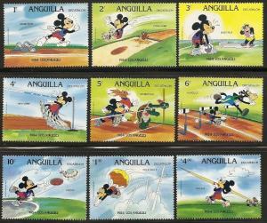 Anguilla 559-68 1984 Olympics Disney set and s.s.