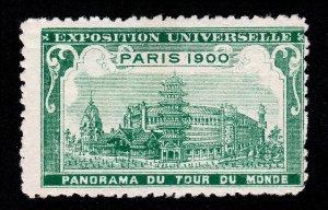 POSTER STAMP 1900 PARIS EXPOSITION UNIVERSELLE - PANORAMA DU TOUR DU MONDE (MH)