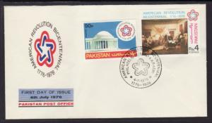 Pakistan 408-409 US Bicentennial 1976 U/A FDC