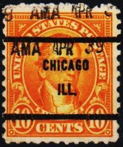 U.S.A. 1922 10c(Pre Cancel) S.G.610 Fine Used