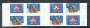 Norway Sc 1321b 2001 Christmas stamp booklet mint NH