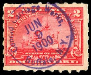 momen: US Stamps #R164 Revenue Rare Cancel