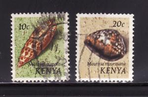 Kenya 37, 39 U Sea Shells (B)