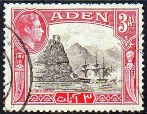 Aden 1939 3a 'Capture of Aden', 1839 used