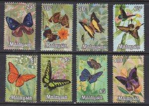 Malaysia # 66-73, Butterflies, NH, 1/2 Cat.