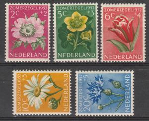 NETHERLANDS 1952 CULTURE FLOWER SET MNH **
