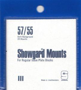 SHOWGARD 57/55 (25) BLACK MOUNTS RETAIL PRICE $8.35