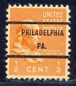 Philadelphia PA, 803-71 Bureau Precancel, ½¢ Franklin