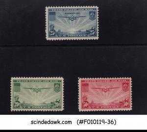 UNITED STATES USA - 1935-37 TRANSPACIFIC ISSUE SCOTT#C20-C22 3V MH