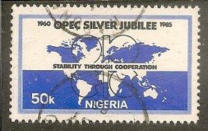 Nigeria   Scott 472   World Map, OPEC   Used
