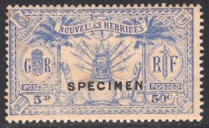 NEW HEBRIDES-FRENCH SCOTT 50