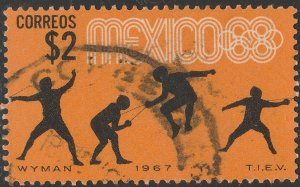 MEXICO 985, $2P Fencing 3rd Pre-Olympic Set 1967 Used. VF. (667)