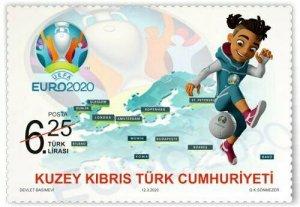TURKISH NORTHERN CYPRUS/2020 - UEFA Euro 2020 (Soccer), MNH