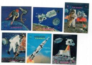 Yemen 1970 MNH Stamps Space Walking Moon Landing 3-D Stamps