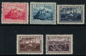 Luxembourg #126-30*  CV $27.80