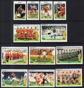 St Vincent Grenadines Bequia 218-219 Soccer MNH VF