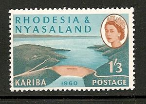 Rhodesia and Nyasaland 1960 stamp mnh 175