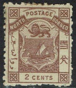 NORTH BORNEO 1883 ARMS 2C PERF 12.5