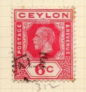 Ceylon 1912-25 Early Issue Fine Used 6c. 154502
