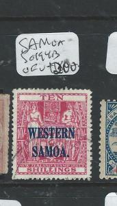 SAMOA (P1306B) ARMS 10/-   SG194B  VFU