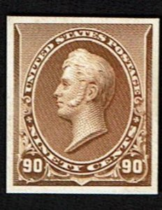 Scott #229P4 VF- plate proof on card. SCV - $50.00