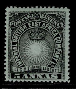 BRITISH EAST AFRICA QV SG29, 5a black & grey-blue, NH MINT.