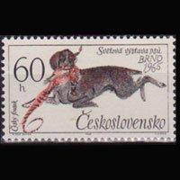 CZECHOSLOVAKIA 1965 - Scott# 1314 Hunting Dog 60h LH