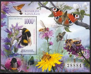 HUNGARY 2021 INSECTS BEES ABEILLES BIENEN BUTTERFLIES [#2104]