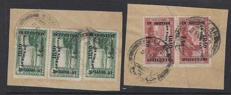 IRAQ BRITISH OFFICES IN (P1801B) 8 PIECES WITH CLEAR CANCELS VF LOT