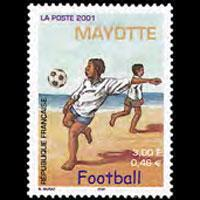MAYOTTE 2001 - Scott# 149 Soccer Set of 1 NH