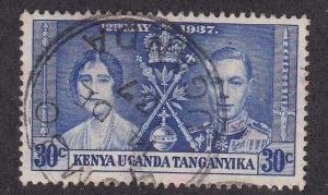 Kenya - Uganda - Tanganyika # 62, Coronation,  Used, 1/3 Cat