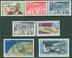 EDW1949SELL : F.S.A.T. 1957-65 Scott #8-10, 21, 35, C5, 7 All VF MNH. Cat $211.