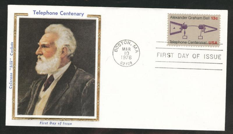 1683 FDC Alexander Bell stamp on COLORANO SILK Cache U/A