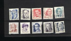 USA #2170, 71, 73, 75, 78, 79, 81, 8, 89,91 used 1986-94 PD .70