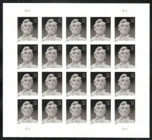 MALACK 4860a 21c  Lincoln, VF NH IMPERF SHEET of 20,..MORE.. sheet4860a