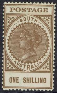 SOUTH AUSTRALIA 1904 QV THICK POSTAGE 1/- WMK CROWN/SA