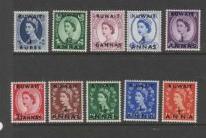 Kuwait 1952/4 Wildings MM SG 93/102