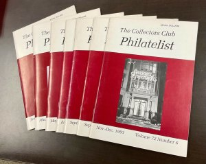 The Collectors Club Philatelist Full year set of 7 Issues Jan-December 1993