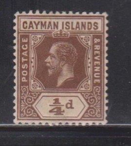 CAYMAN ISLANDS Scott # 32 MH - KGV Definitive