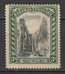 BAHAMAS 1921 QUEENS STAIRCASE 3/- WMK MULTI SCRIPT CA