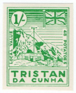 (I.B) Tristan da Cunha Postal : Local Post 1/- (Weather Station)