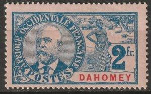 Dahomey 1906 Sc 30 MH* small thin