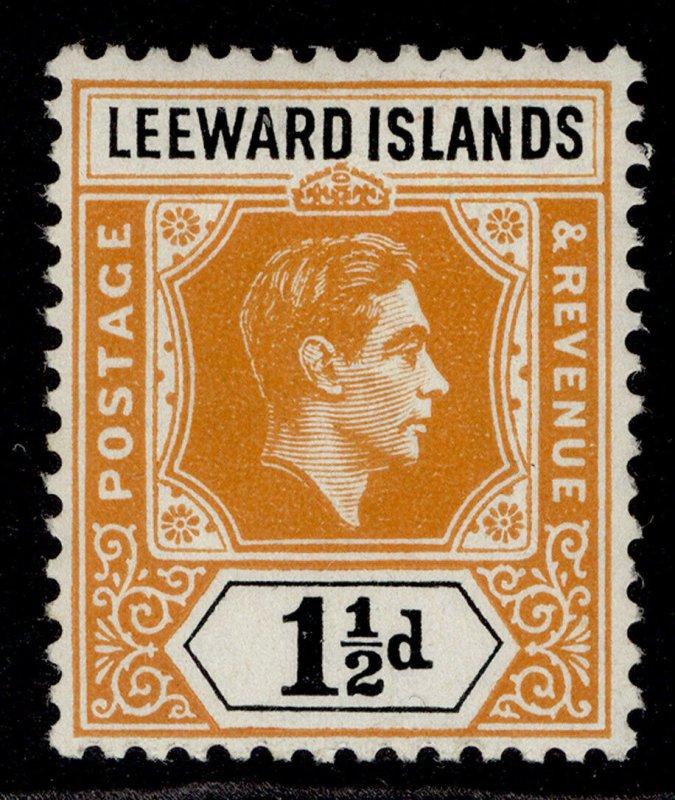 LEEWARD ISLANDS GVI SG102, 1½d yellow-orange & black, M MINT.