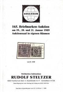 Steltzer: Sale # 165  -  165. Briefmarken-Auktion, Steltz...