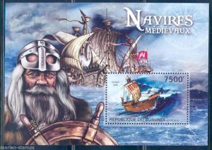 Burundi MNH S/S Medieval Sailing Ships 2012
