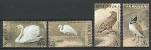 Moldova 2003 Birds The Red Book of Moldova 4 MNH stamps