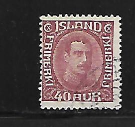 ICELAND, 184, USED ,TYPES OF 1920 CHRISTIAN X ISSUE